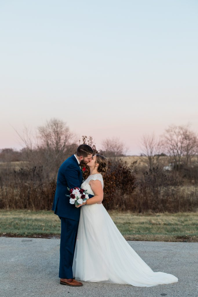 sunset wedding photos in wisconsin