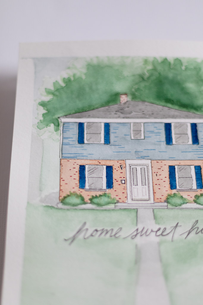 Wisconsin Custom Watercolor Home