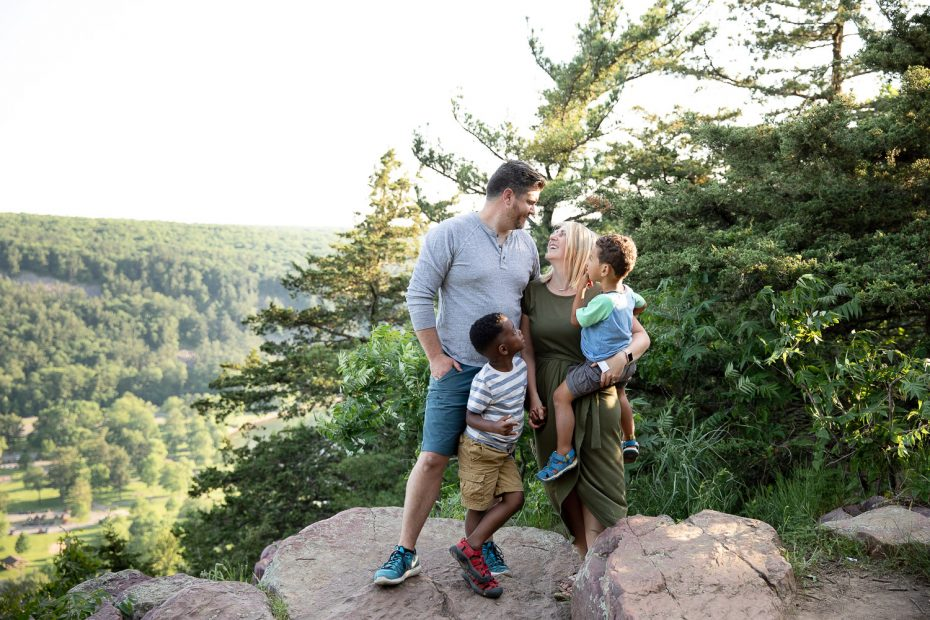 Family photos at Devils lake State Park