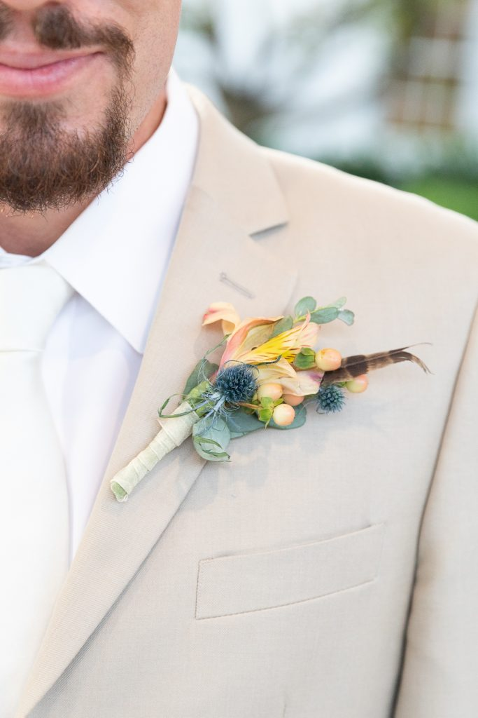 Groom's summer boutonniere