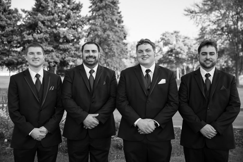 Groomsmen photos at meadowbrook Country Club