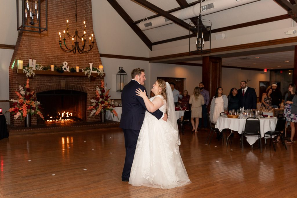 Bride and groom first dance at Meadowbrook Country Club