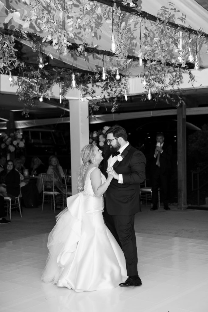 First dance in the pavilion at Grand Geneva