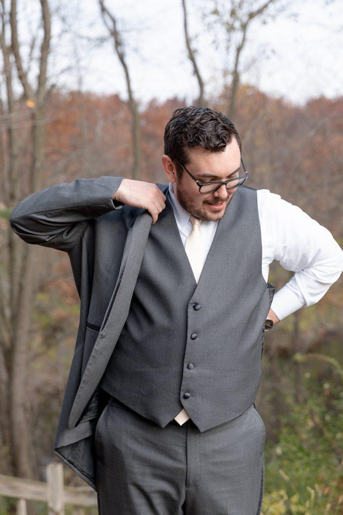 Groom Details at Wisconsin Intimate Wedding