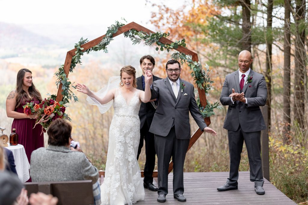 Wedding ceremony at Wildcat Mountain State Park