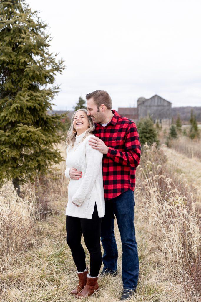 Wisconsin Tree Farm Pregnancy Announcement