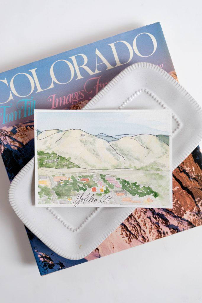Golden Colorado Landscape Painting