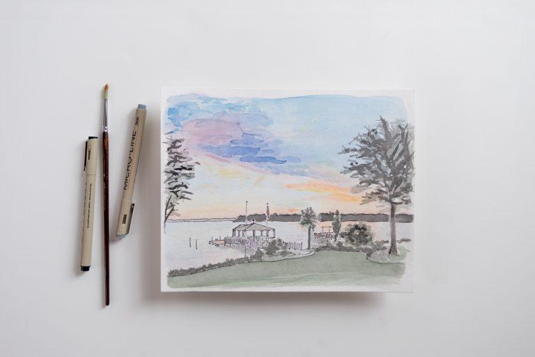 Florida Custom watercolor landscape
