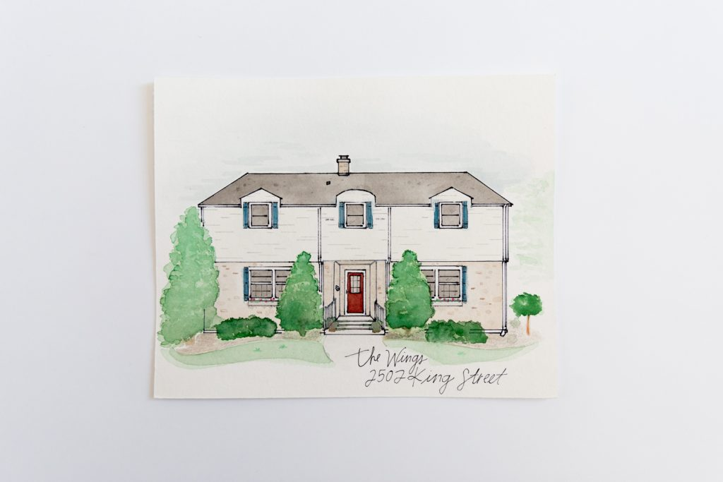 Watercolor Painting of home