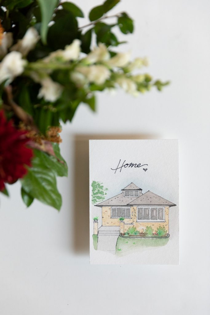 Grace Creatives Wisconsin Watercolor Home