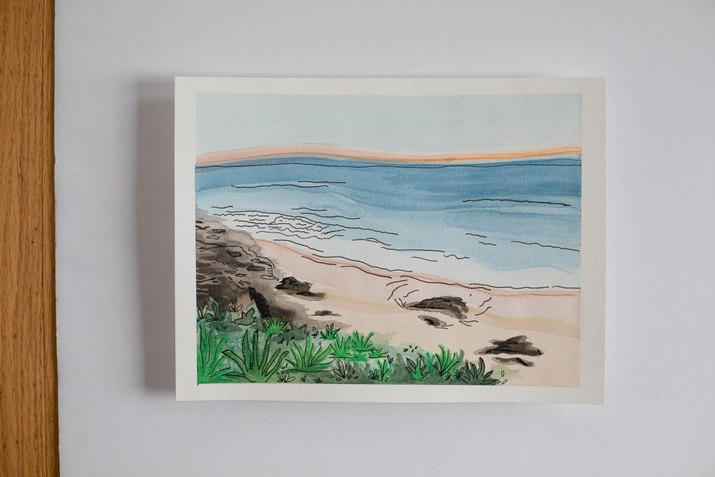 Custom Watercolor Landscape Painting by Grace Creatives