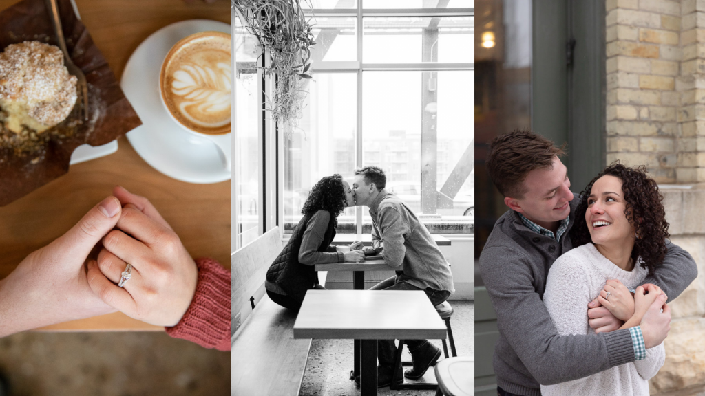 Milwaukee Coffee Shop Engagement Photos