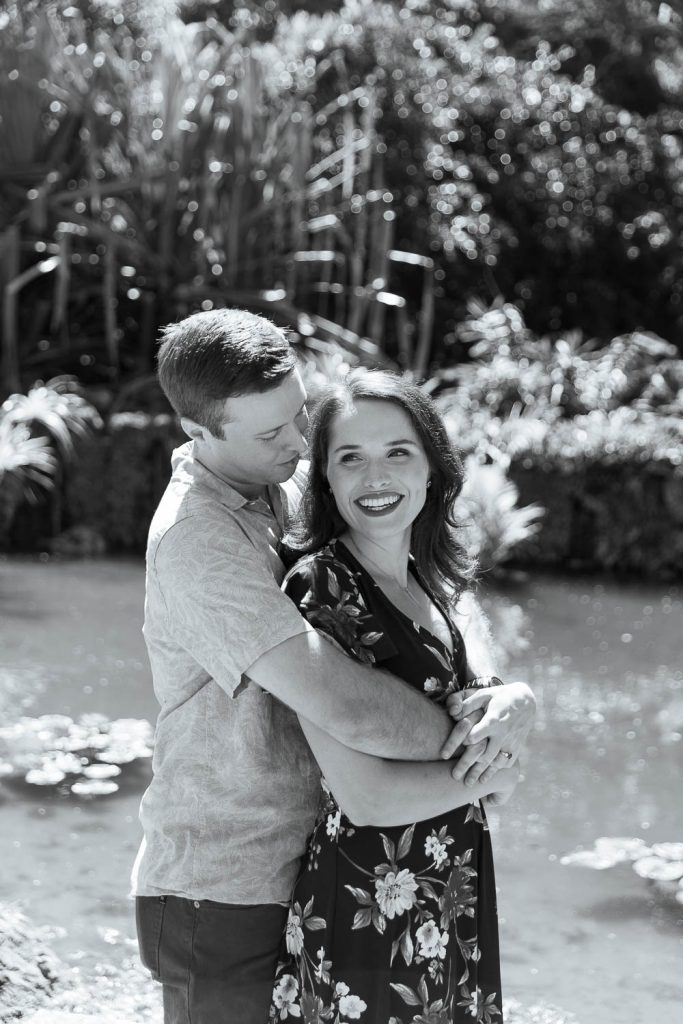 engagement photos at Fairchild in Miami